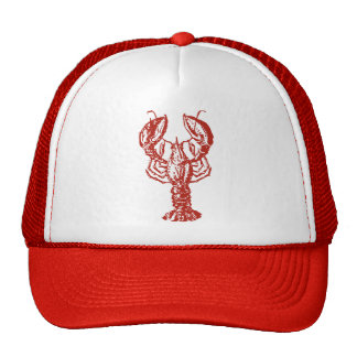Stylized Red Lobster Trucker Hat