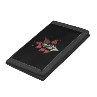 Stylized Red Ottoman Turkish Tulips Trifold Wallet