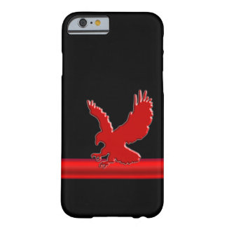 Stylized Red Swooping Eagle, red embossed effect Barely There iPhone 6 Case