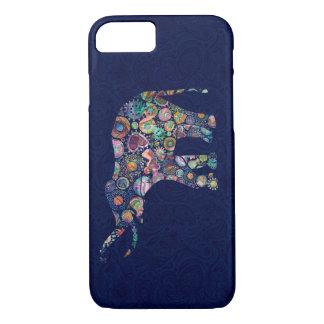 Stylized Retro Flowers Elephant Illustration iPhone 7 Case