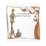 Stylized Retro Teacher  From the Desk OF NAME HERE Memo Note Pad