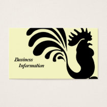 Stylized Rooster Business Cards