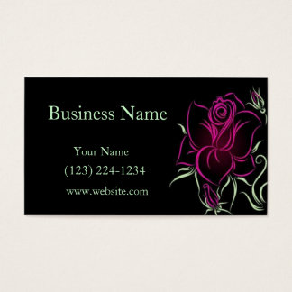 Stylized Rose Business Card