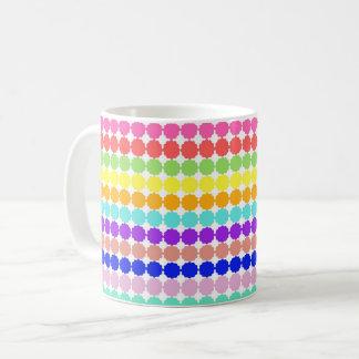 Stylized round flowers (white background) coffee mug