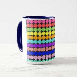 Stylized round flowers (white background) mug