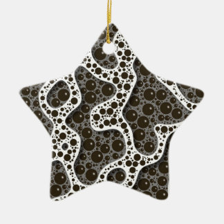 Stylized Seafoam Black and White by Frank Hawkins Christmas Ornament