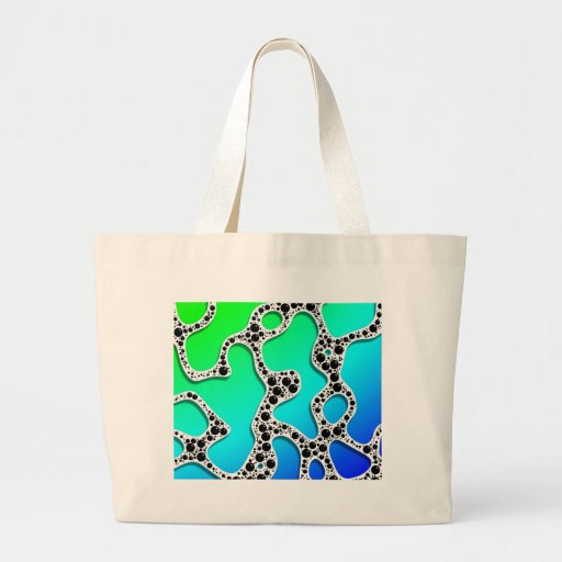 Stylized Seafoam Blue and Green by Frank Hawkins Bags