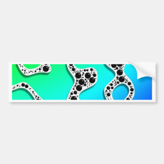 Stylized Seafoam Blue and Green by Frank Hawkins Bumper Stickers