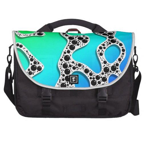 Stylized Seafoam Blue and Green by Frank Hawkins Laptop Messenger Bag