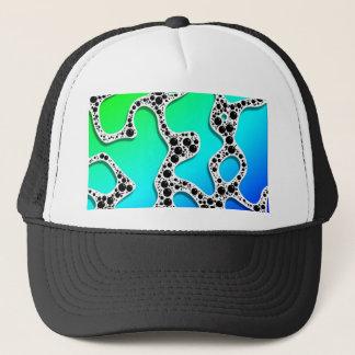 Stylized Seafoam Blue and Green by Frank Hawkins Trucker Hat