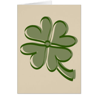 Stylized Shamrock Card