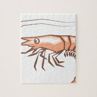 Stylized shrimp vector jigsaw puzzle
