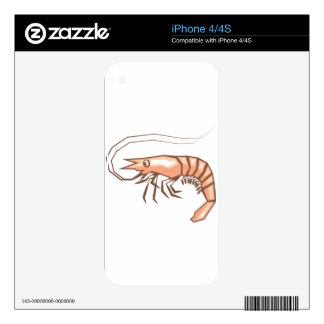 Stylized shrimp vector skin for iPhone 4