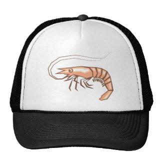 Stylized shrimp vector trucker hat