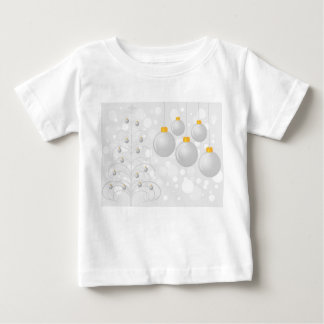 Stylized Silver Christmas Tree and Baubles Infant T-shirt