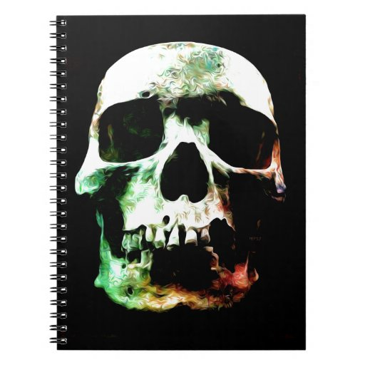 Stylized Skull Spiral Notebook