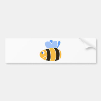 Stylized Smiling Cartoon Bumble Bee/Bumblebee Car Bumper Sticker