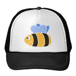 Stylized Smiling Cartoon Bumble Bee/Bumblebee Trucker Hat