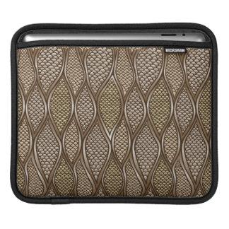 Stylized snake skin iPad sleeve