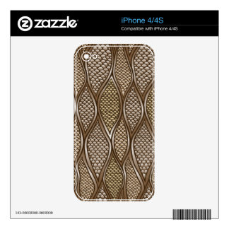 Stylized snake skin skin for iPhone 4S