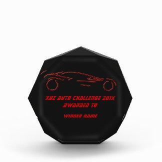 Stylized Sportscar - glowing red neon auto design Acrylic Award