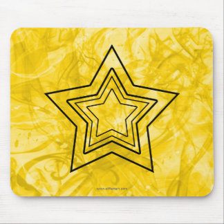 Stylized Star Mouse Pad