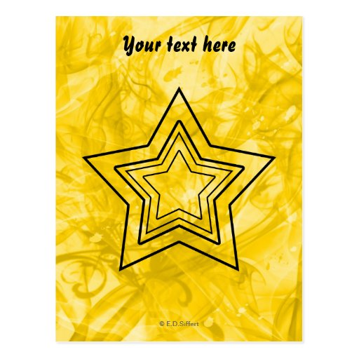 Stylized Star Post Cards