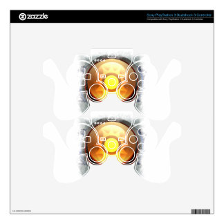 Stylized Sun PS3 Controller Decals