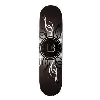 Stylized Sun Skateboard Deck