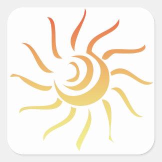 Stylized Sun Square Sticker