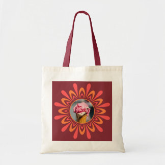 Stylized Sun with YOUR PHOTO tote bags