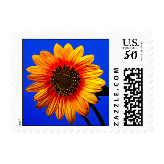 Stylized Sunflower Postage