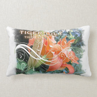 Stylized Tiger Lily Throw Pillow