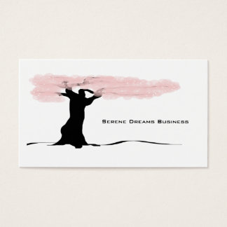 Stylized Tree Blossoms Business Card