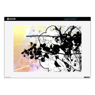 Stylized Tree Branches Decal For Laptop
