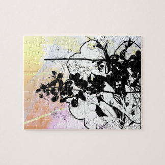 Stylized Tree Branches Jigsaw Puzzles