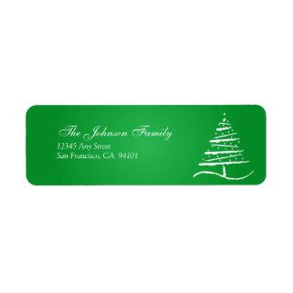 Stylized Tree Holiday Address Labels (green)