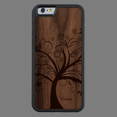 Stylized Tree Wooden iPhone 6 Case Carved® Walnut iPhone 6 Bumper
