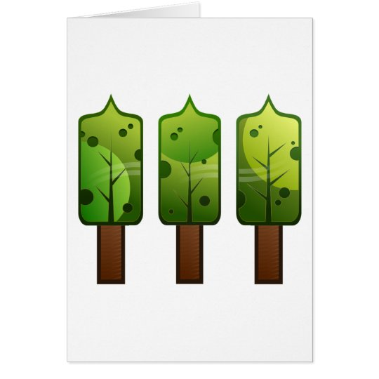 Stylized Trees Card