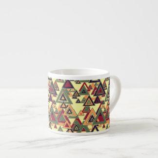 Stylized Triangular Pattern Espresso Cup