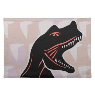 Stylized Tyrannosaurus Cloth Placemat