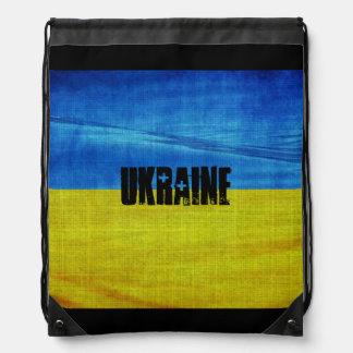 Stylized Ukraine Flag Drawstring Backpack