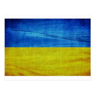 Stylized Ukraine Flag Postcard