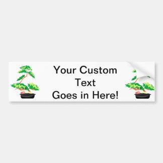 Stylized Upright Bonsai 2 Car Bumper Sticker