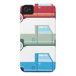 Stylized Vector Old Pickup Truck vector Case-Mate iPhone 4 Case