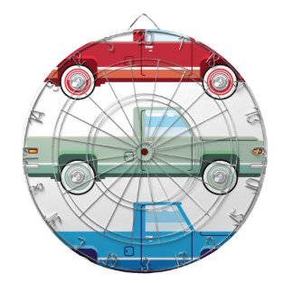 Stylized Vector Old Pickup Truck vector Dartboard