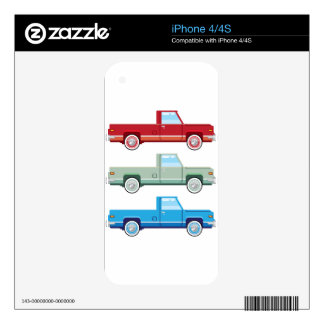 Stylized Vector Old Pickup Truck vector Decal For iPhone 4