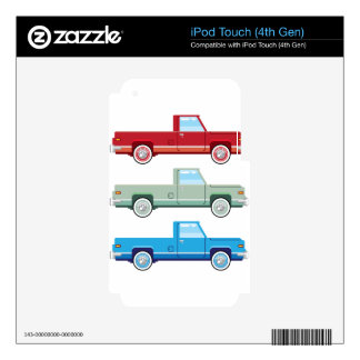 Stylized Vector Old Pickup Truck vector Decals For iPod Touch 4G