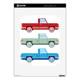 Stylized Vector Old Pickup Truck vector Skin For The iPad 2
