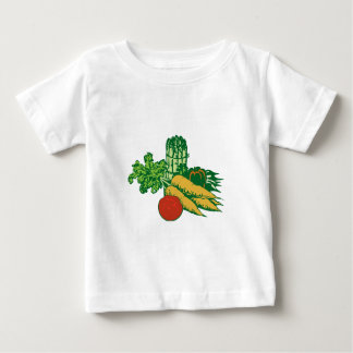 Stylized Vegetable Assortment Baby T-Shirt